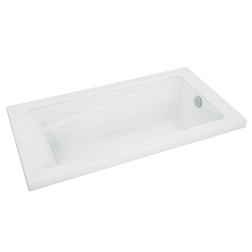 MAAX New Town 5 ft. Acrylic Rectangular Drop-in Non-Whirlpool ...