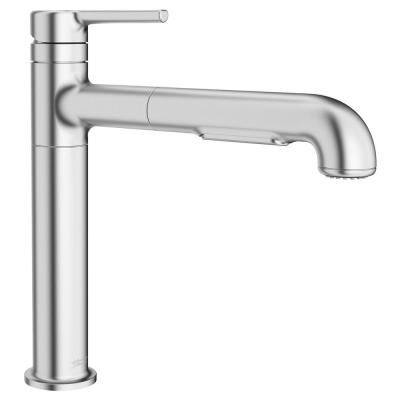 Studio S Single-Handle Pull-Out Sprayer Kitchen Faucet with Dual Spray in Stainless Steel