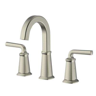 Chesapeake 8 in. Widespread 2-Handle High-Arc Bathroom Faucet with Pop-Up Drain Assembly in Brushed Nickel