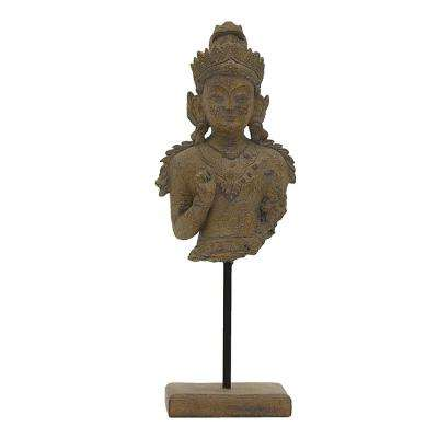 5 in. x 3.5 in. Buddha Decoration in Gray