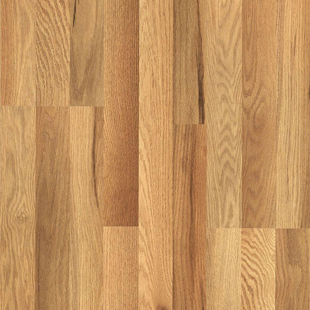 Pergo xp haley oak 8 mm thick x 7 1 2 in wide x 47 1 4 in for Hardwood laminate