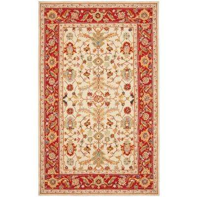 Chelsea Ivory/Red 8 ft. x 10 ft. Area Rug