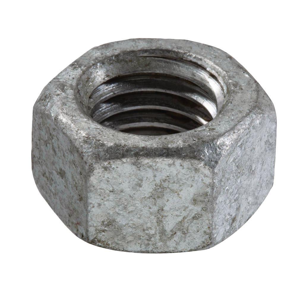 1/2 in.-13 tpi Galvanized Hex Nut (25-Piece per Bag)