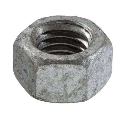1/4 in.-20 tpi Galvanized Hex Nut (25-Piece per Bag)