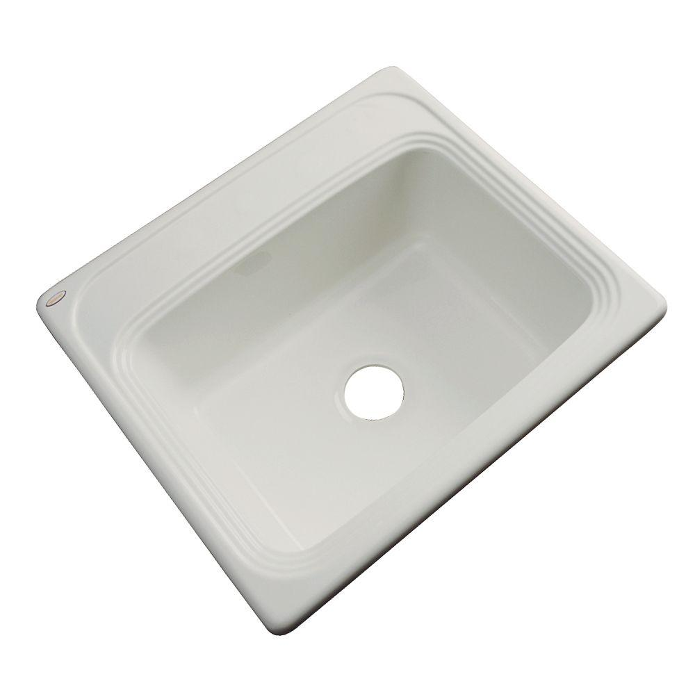 Thermocast Wellington Drop-in Acrylic 25x22x9 in. 0-Hole Single Bowl Kitchen Sink in Tender Grey