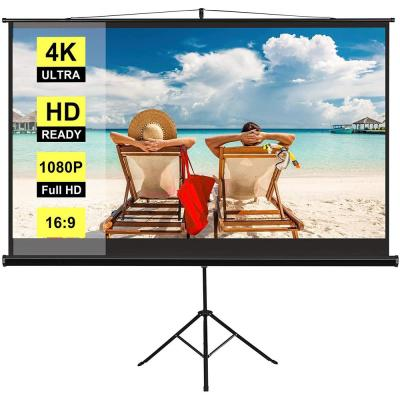 100 in. Foldable Projector Screen with Adjustable Tripod Stand