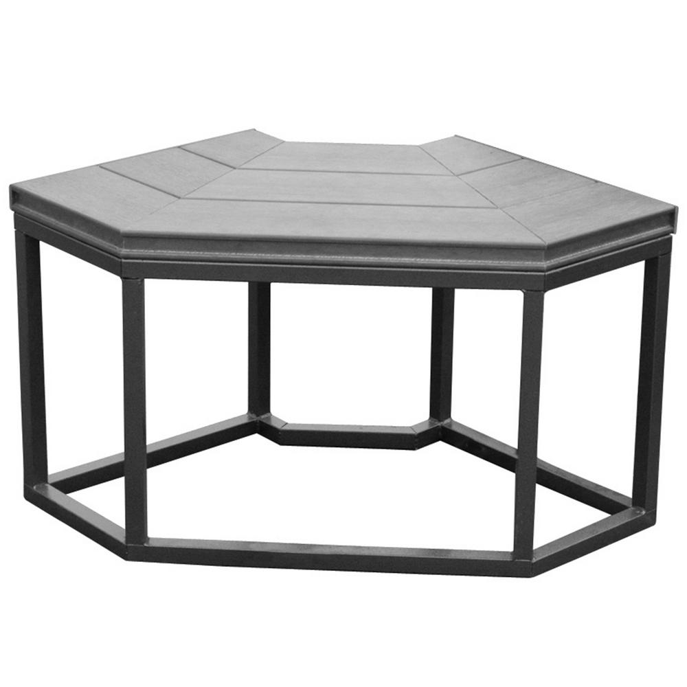 16.5 in. x 34.25 in. x 35.5 in. Corner Spa Bench