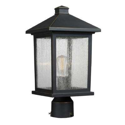Malone 1-Light Outdoor Oil-Rubbed Bronze Post Mount