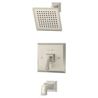 Oxford 1-Handle Tub/Shower Trim Kit in Satin Nickel (Valve Not Included)