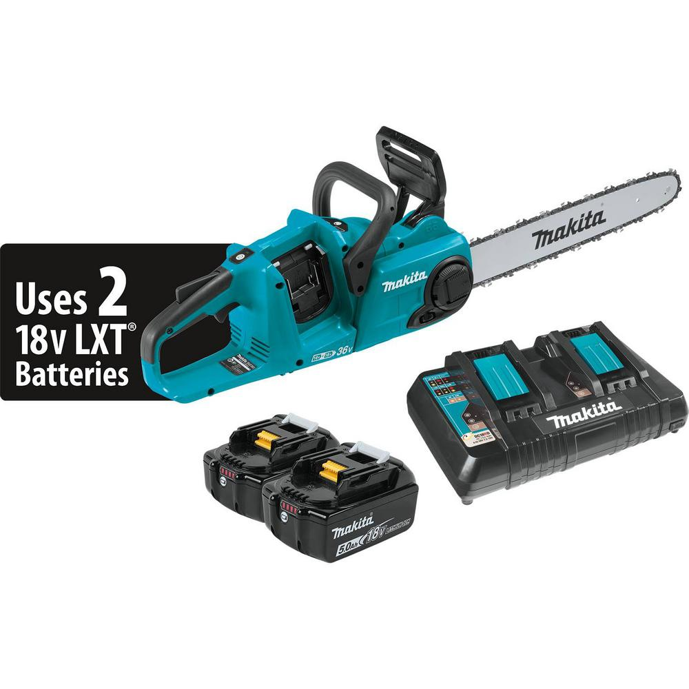 16 in. 18-Volt X2 (36-Volt) LXT Lithium-Ion Brushless Cordless Chain Saw