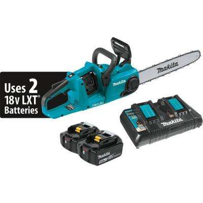 16 in. 18-Volt X2 (36-Volt) LXT Lithium-Ion Brushless Cordless Chain Saw Kit (5.0Ah)