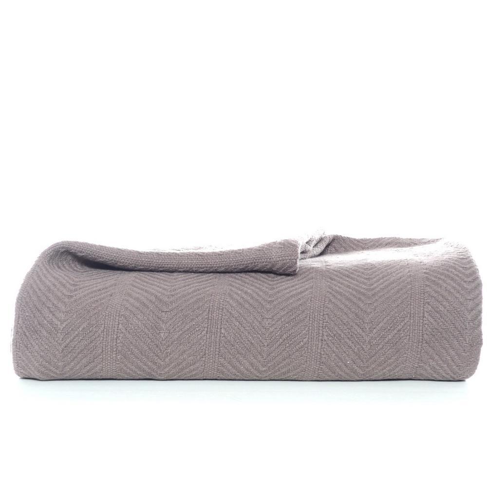 Eb Mushroom 100% Cotton Twin Blanket
