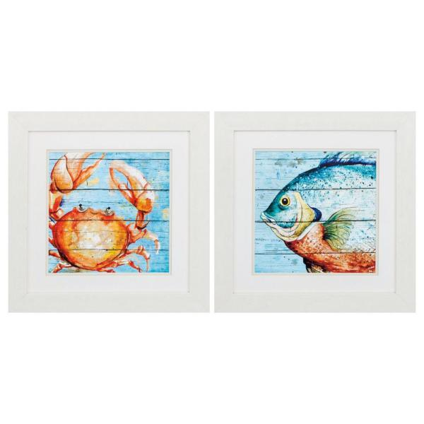 Homeroots Victoria White Gallery Frame Set Of 2 365282 The Home Depot