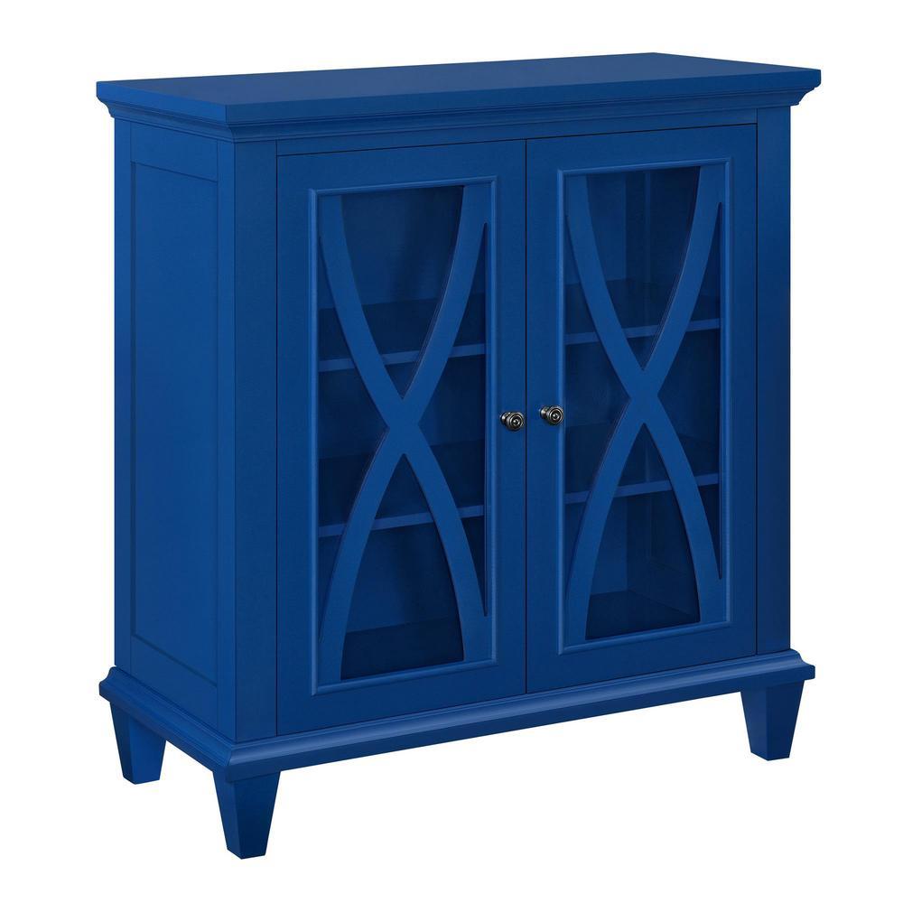 Satinwood Navy Storage Cabinet