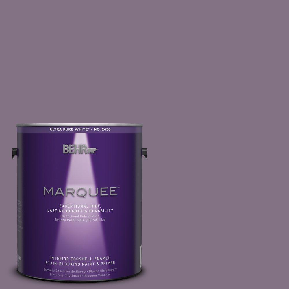 BEHR MARQUEE 1-gal. #HDC-SP14-9 Decorative Iris Eggshell Enamel Interior Paint