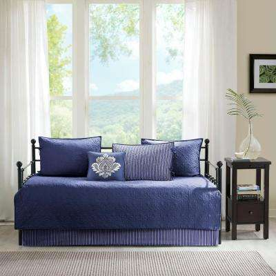 Mansfield 6-Piece Navy Daybed Reversible Daybed Cover Set