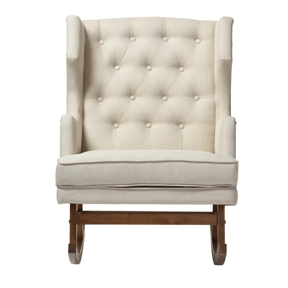 baxton studio iona mid century beige fabric upholstered rocking chair 28862 6774 hd the home depot. Black Bedroom Furniture Sets. Home Design Ideas
