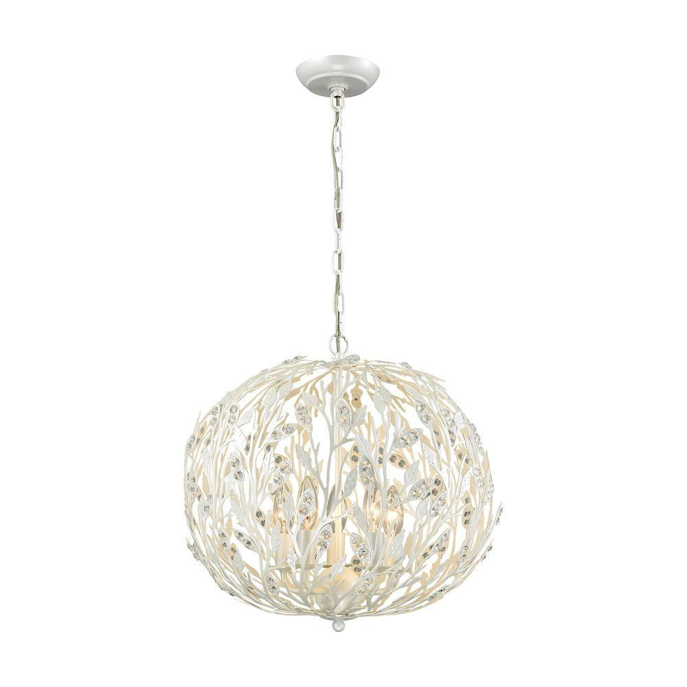 Exceptionnel Titan Lighting Trella 5 Light Pearl White Chandelier
