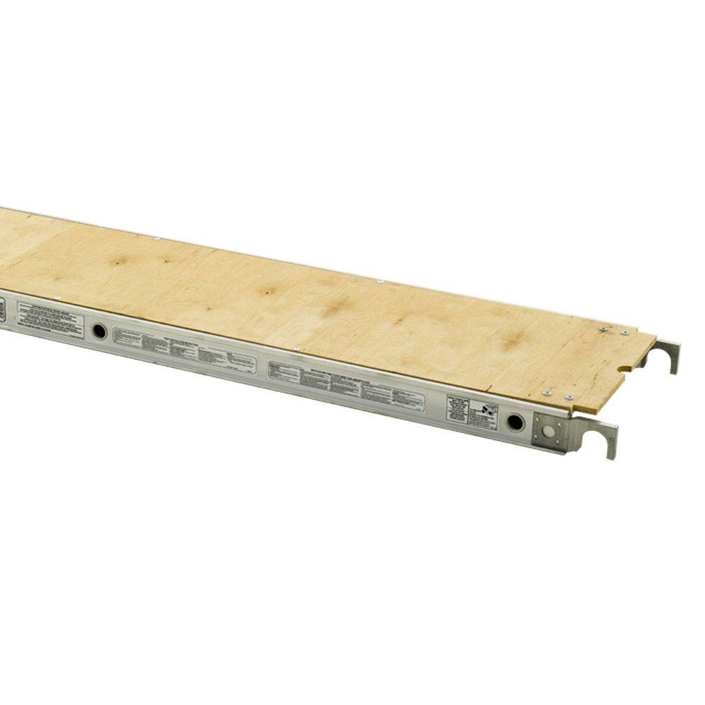 Werner 7 ft. x 19 in Plywood Decked Aluma-Plank with 250 lb. Load ...