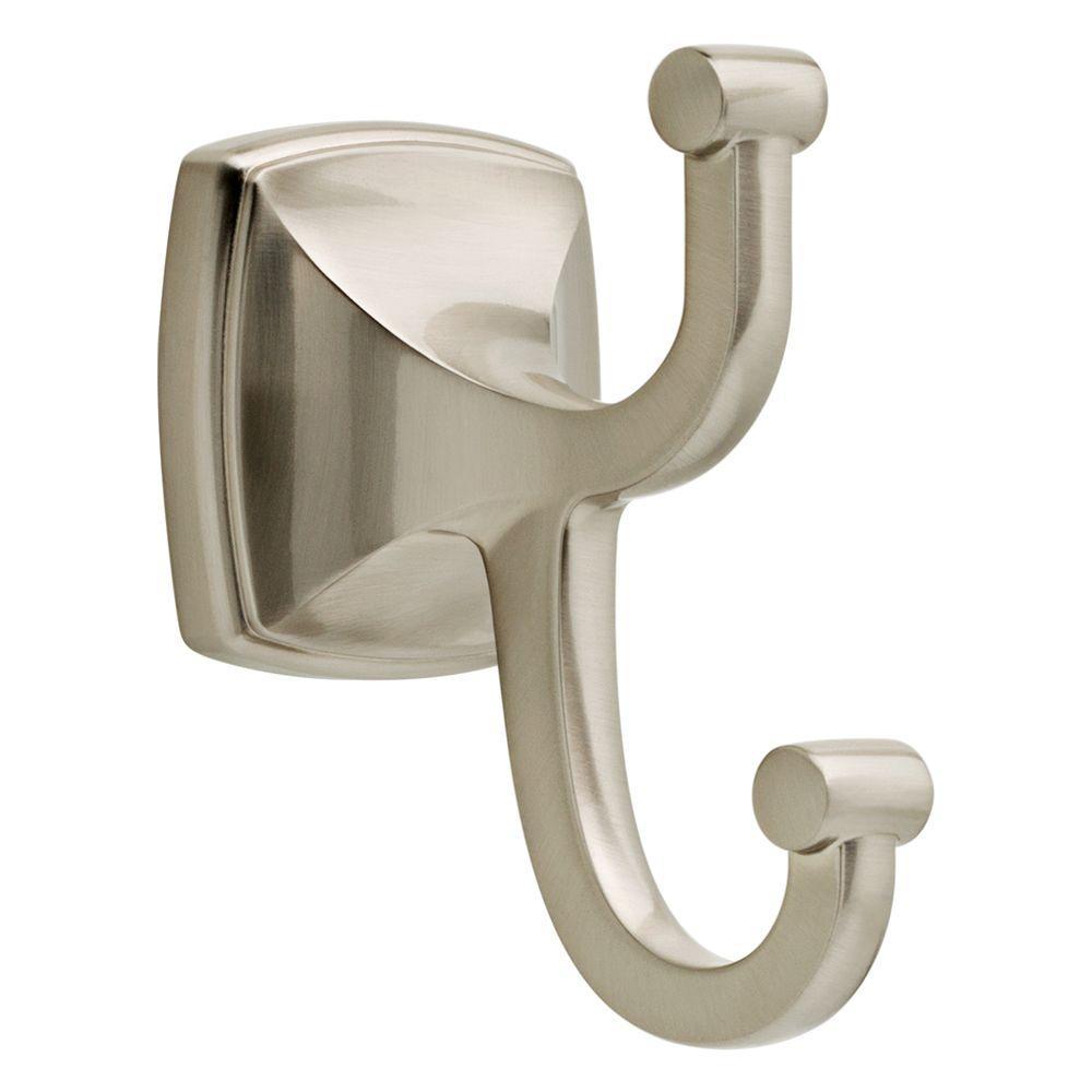 Amaya Double Towel Hook in SpotShield Brushed Nickel