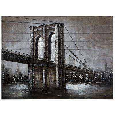 "36 in. H x 48 in. W ""Highway to the City"" Artwork in Wood Acrylic Wall Art"