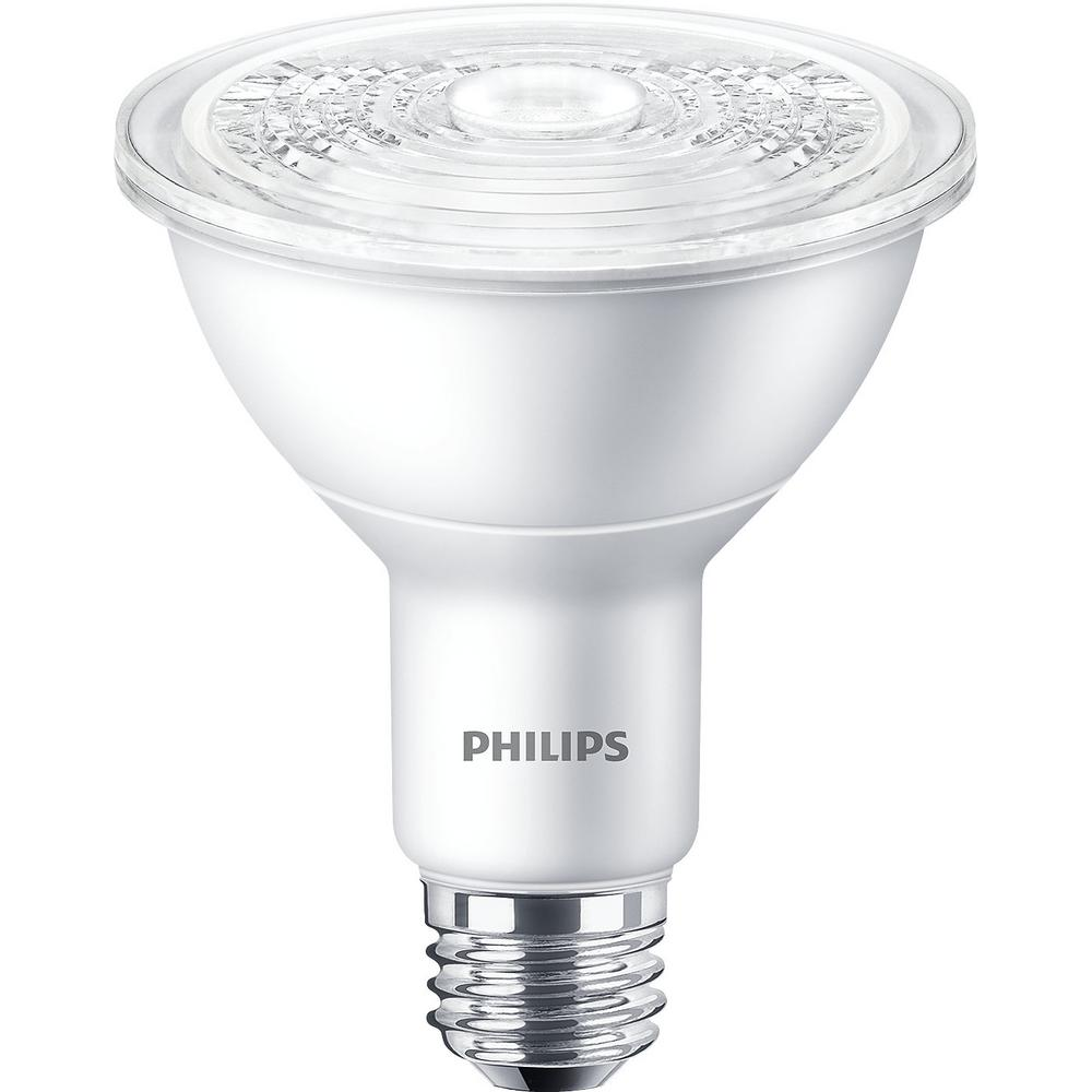 Philips 65 watt equivalent br30 dimmable led soft white for Corrispondenza led watt