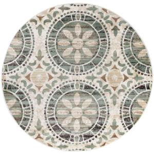 Tayse Rugs Deco Ivory 7 Ft 10 In Transitional Round Area Rug Dco1017 8rnd The Home Depot