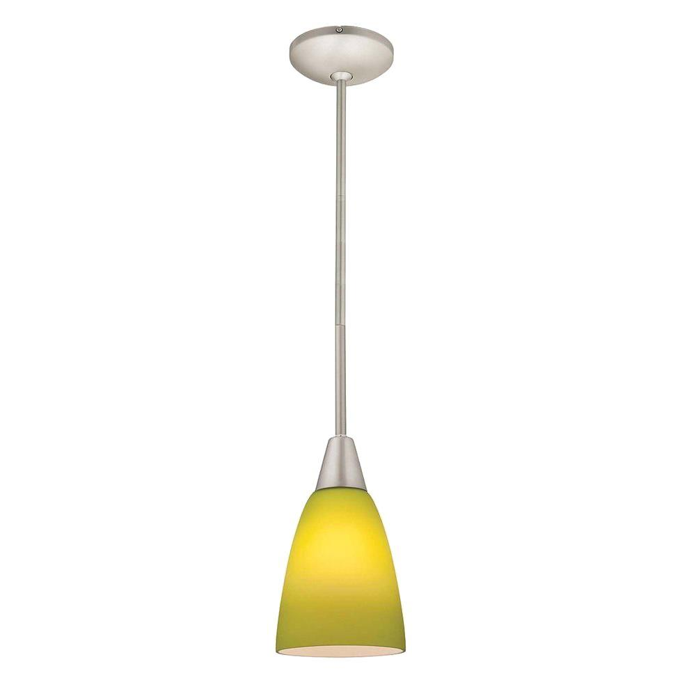 Access Lighting 1-Light Pendant Oil Rubbed Bronze Finish-Light Green Glass-DISCONTINUED