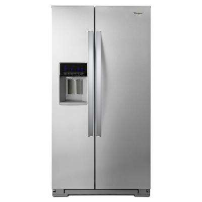 Merveilleux Side By Side Refrigerator In Fingerprint Resistant Stainless Steel, Counter  ...