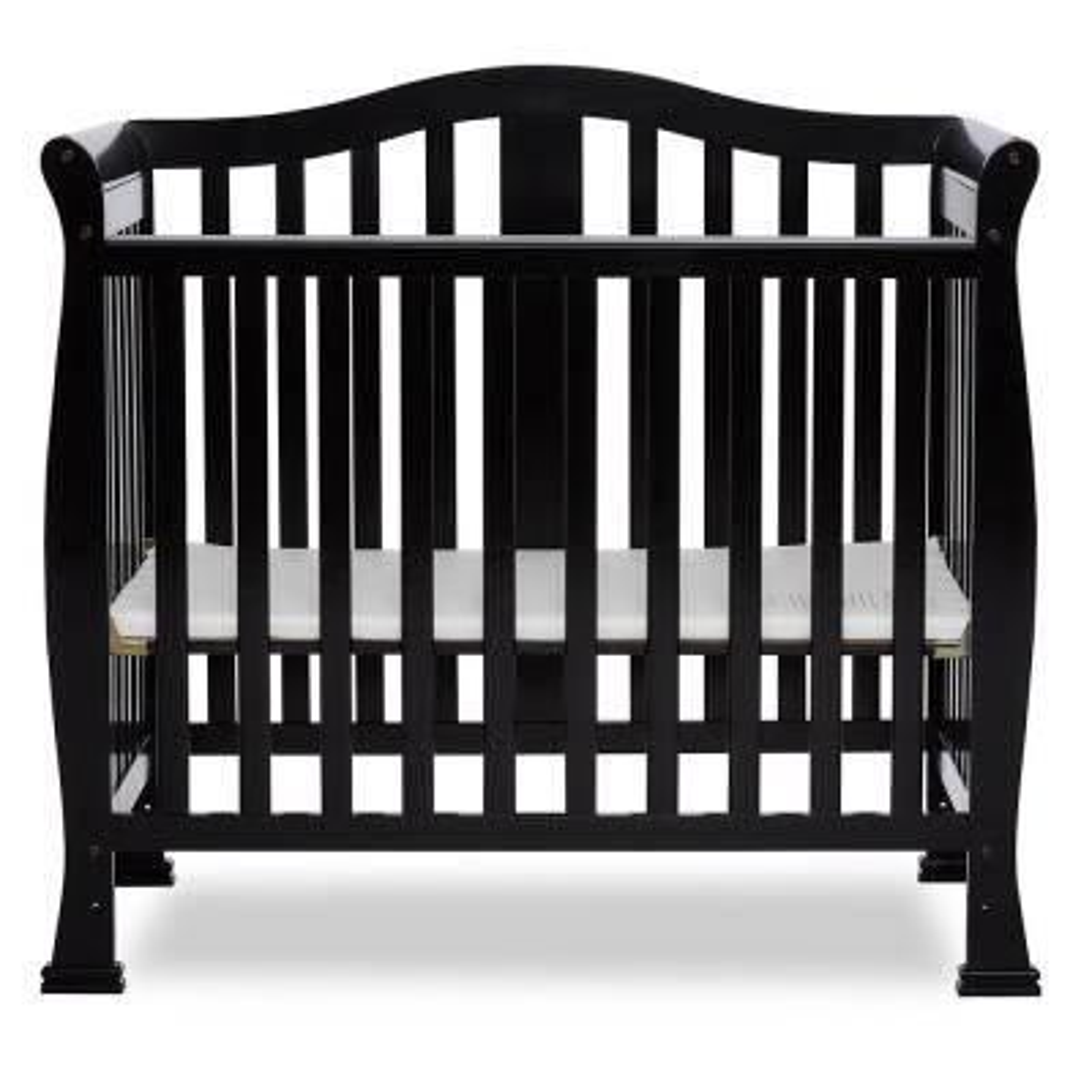 Naples Black 4-in-1 Convertible Mini Crib