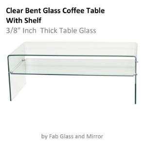 Fab Gl And Mirror 3 8 In Thick Clear Bent Coffee