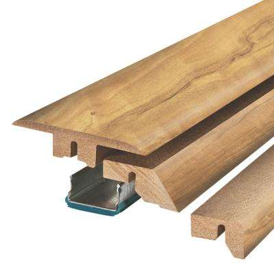Natural Spalted Maple 3/4 in. Thick x 2-1/8 in. Wide x 78-3/4 in. Length Laminate 4-in-1 Molding