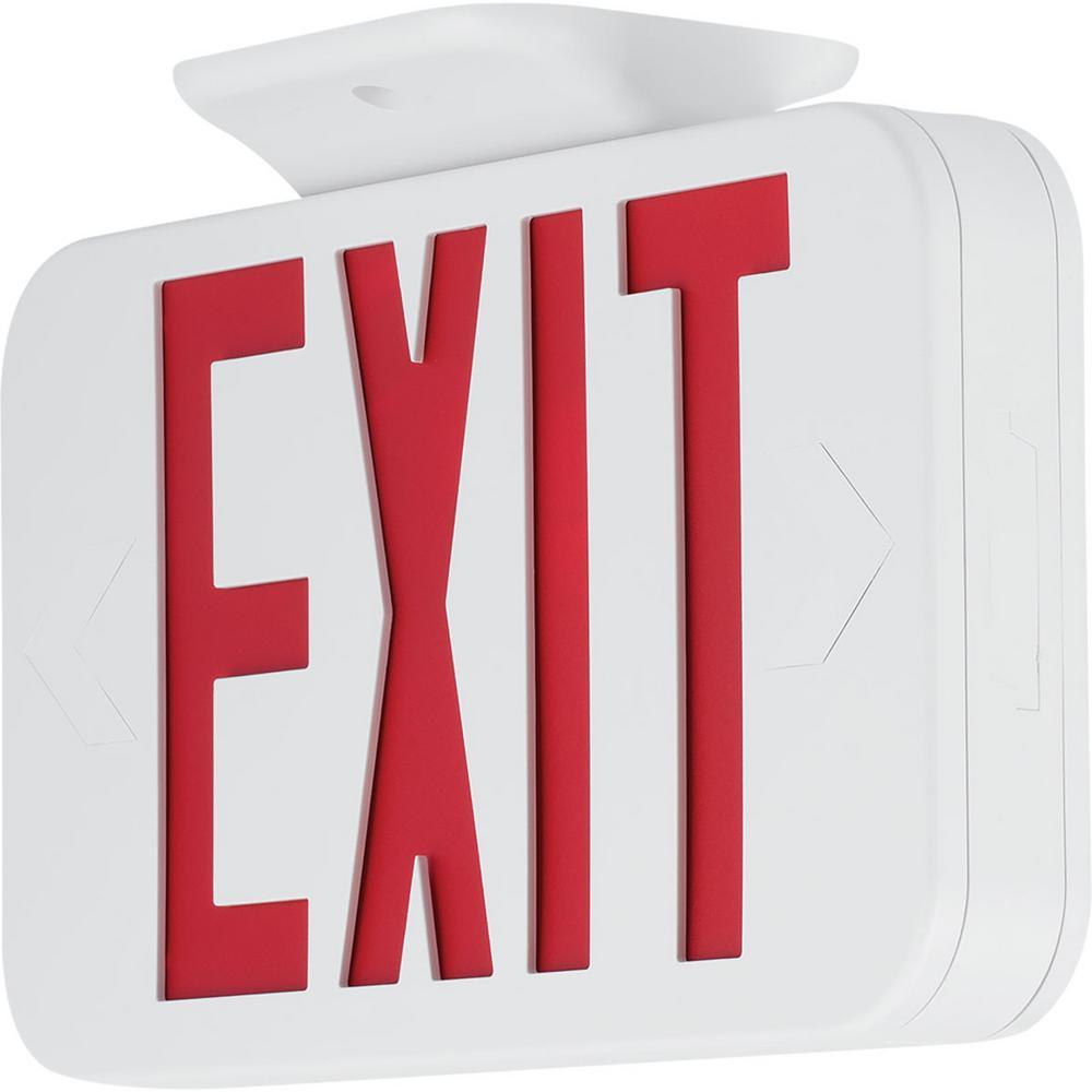 120-Volt White Integrated LED Exit Sign