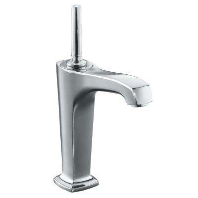 Margaux Single Hole Single Handle Mid Arc Bathroom Vessel Sink Faucet in Polished Chrome
