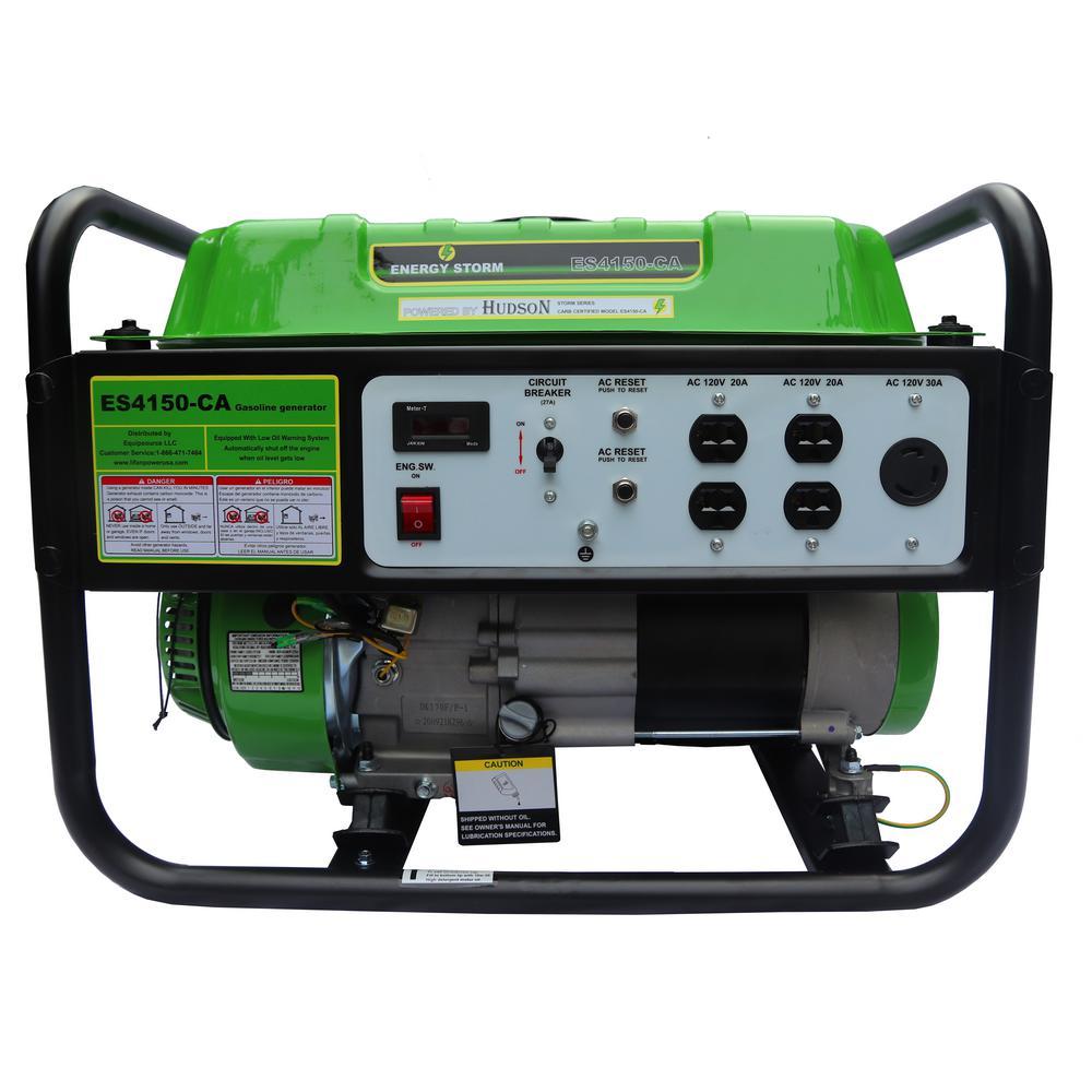 Energy Storm 3200/3500-Watt Gas Powered Recoil Start Gasoline Powered 225 cc Portable Generator