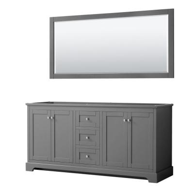Avery 71 in. W x 21.75 in. D Bathroom Vanity Cabinet Only with Mirror in Dark Gray