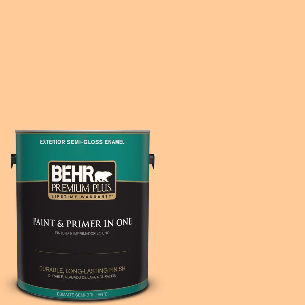 1-gal. #280B-4 Apricot Light Semi-Gloss Enamel Exterior Paint