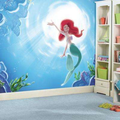 72 in. x 126 in. Disney Princess The Little Mermaid Part of your World XL Chair Rail 7-Panel Prepasted Mural