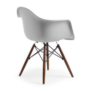 Astounding Poly And Bark Vortex Arm Chair Walnut Leg In Harbor Grey Hd Ncnpc Chair Design For Home Ncnpcorg