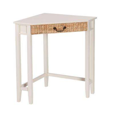 Vivietta White finish with natural water hyacinth Desk