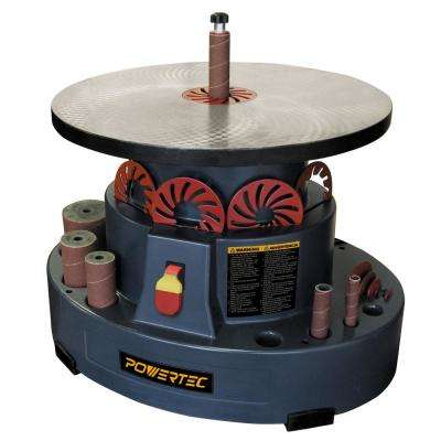 2.6 Amp Benchtop Oscillating Spindle Sander with 18 in. Dia Cast Iron Table
