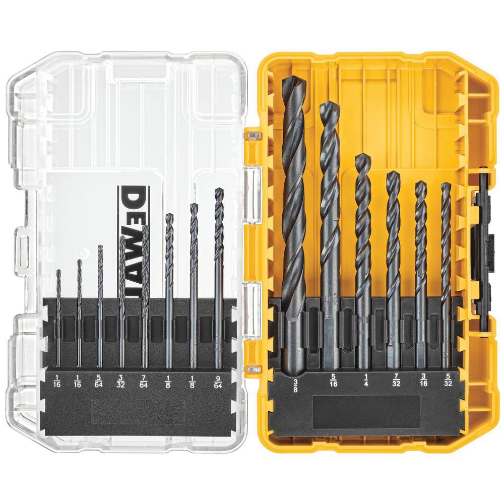 Black Oxide Drill Bit Set (19-Piece) with Tough Case