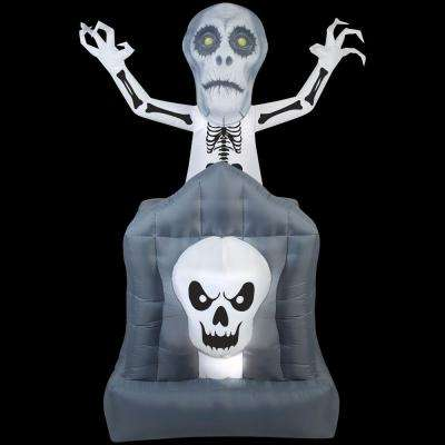 3 ft. W x 6 ft. H Animated Inflatable Pop-Up Ghost in Haunted Tomb