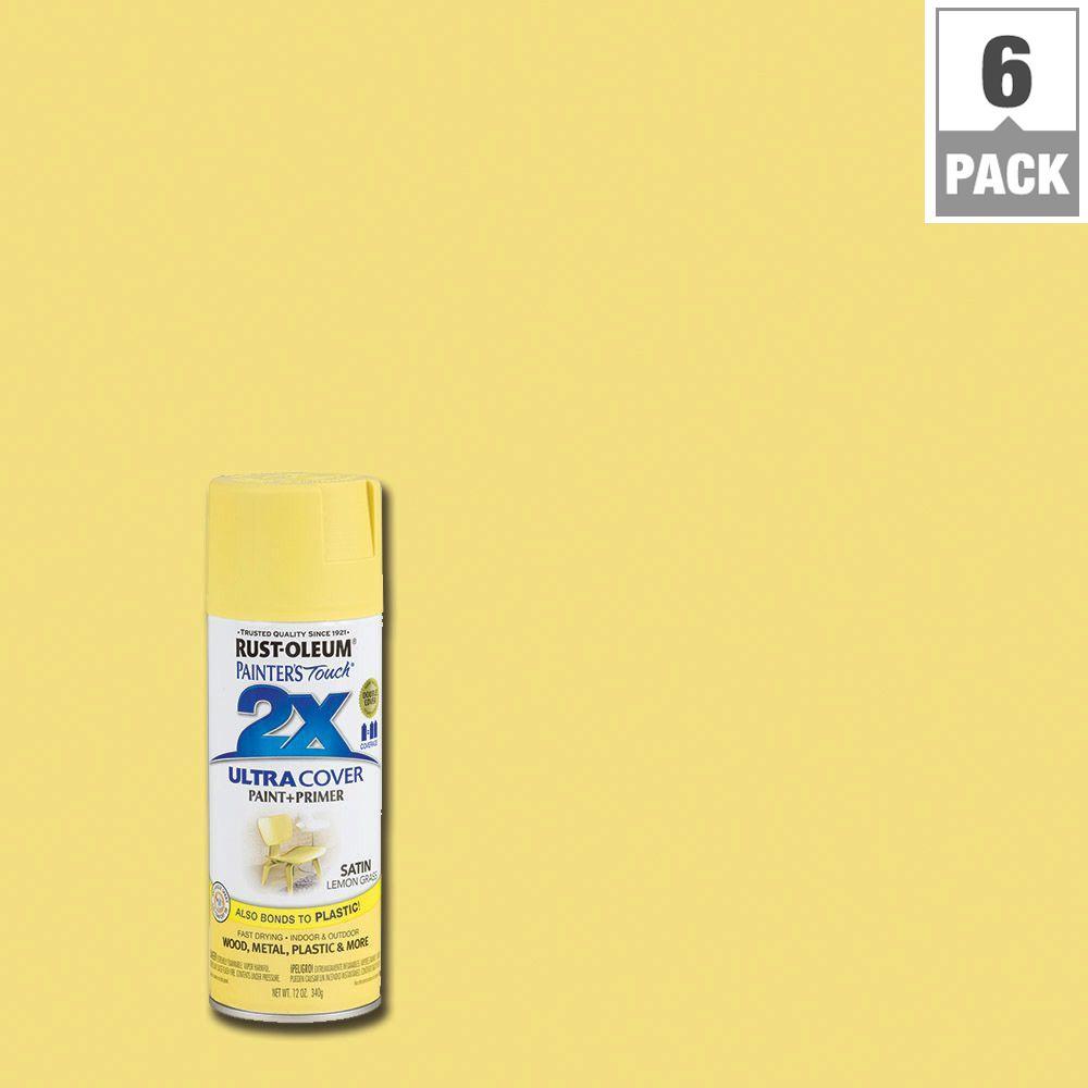 12 oz. Lemongrass Satin General Purpose Spray Paint (6-Pack)