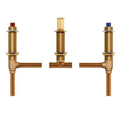 2-Handle 3-Hole Roman Tub Adjustable Rough-In Valve - 1/2 in. CC Connection