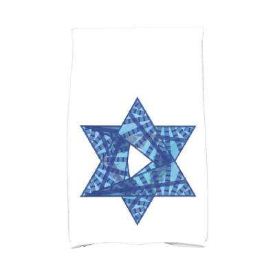 16 in. x 25 in. Royal Blue Star Mosaic Holiday Geometric Print Kitchen Towel