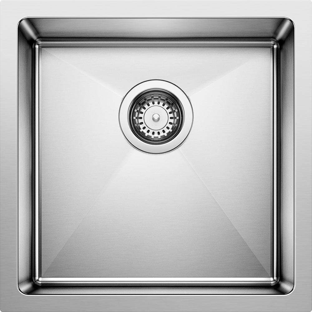QUATRUS R15 18 Gauge Stainless Steel 17 in. Undermount Bar Sink