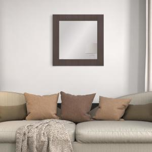 Pinnacle Graywash Wood Plank Square Wall Accent Mirror 1805 ...