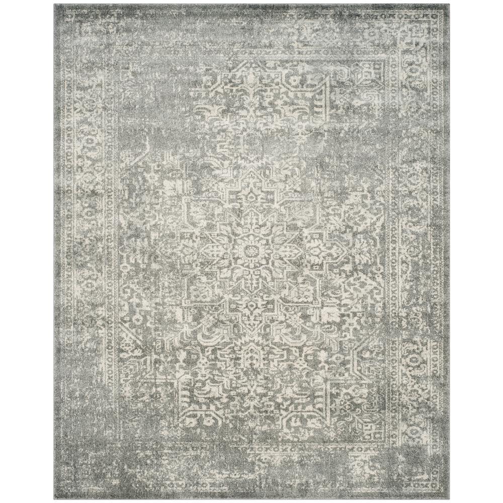 Evoke Silver/Ivory 9 ft. x 12 ft. Area Rug