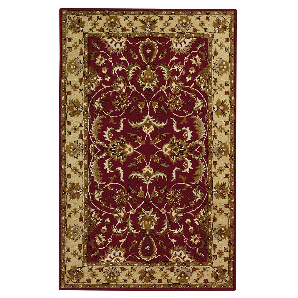 Home Decorators Collection Constantine Burgundy 9 Ft X 13 Ft Area Rug 3151940180 The Home Depot